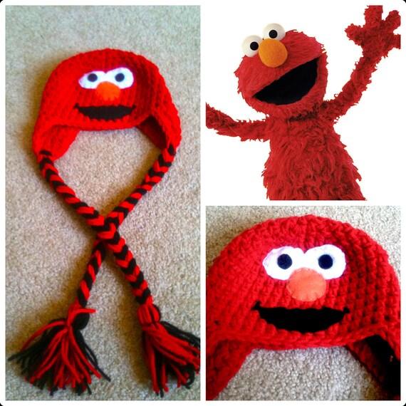 Free Crochet Pattern For Elmo Beanie : Crochet Elmo Beanie/Hat