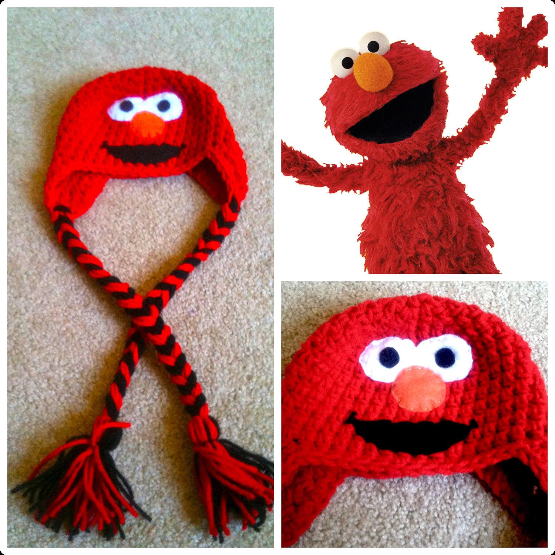 Free Crochet Patterns For Elmo Hat : Crochet Elmo Beanie/Hat