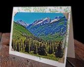 Greeting card with Colorado Mountain Photograph