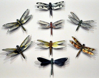 Dragonfly Magnets Insects Set of 8  Refrigerator Magnets Kitchen Magnets Wall Decor