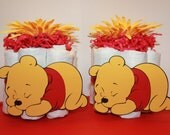 Pooh Mini Diaper Cakes- Center Pieces, Gifts for Boy and Girl