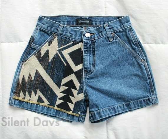 SALE Tribal Pattern and Arrowhead Shorts Small