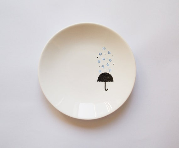 Blue rain candy dish