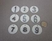 Numbered Metal Tags (1 set of 9 )