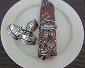 Locker Tag Napkin Rings (1 set of 4)
