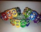 Recycled Rainbow Pop Tab Bracelet
