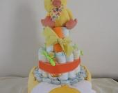 3 Tier Just Ducky Diaper Cake