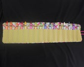 Girly Girl Crayon Roll Up with Elastic Closure