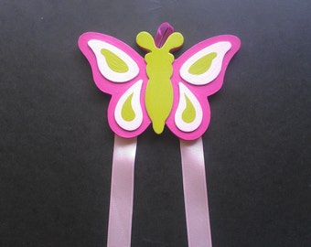 Large Butterfly Hair Bow & Barrette Holder