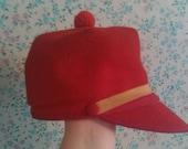 Poshly Elegant Red 1960s Women's Cap