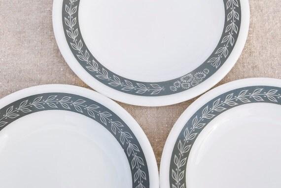 Pyrex Plates White Tableware Set of 3