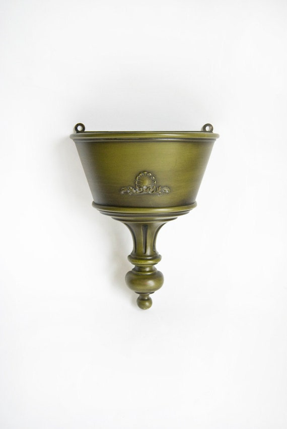 Wall Sconce, Planter, Syroco, Avocado Green