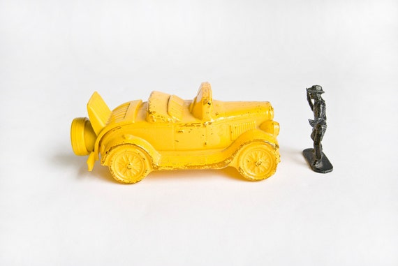 Avon Yellow Car After Shave Decanter, Mens Vintage Cologne, Guys, For Him, Dudes