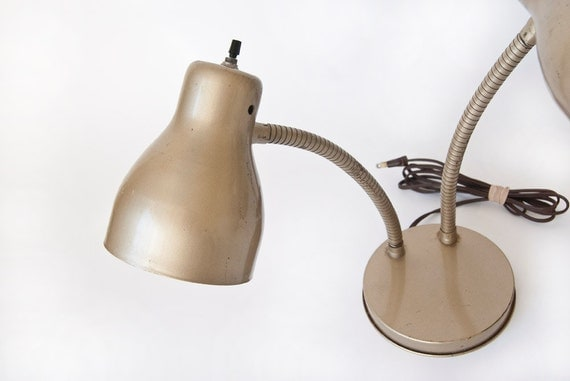 Industrial Metal Gooseneck Desk Lamp Lighting Gift for Men