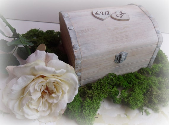 Rustic Wedding Memory Box or Words of Advice Trunk