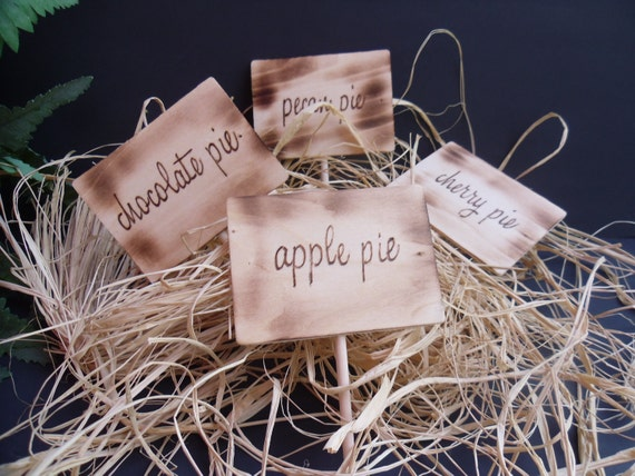 Pie Signs for Rustic Events
