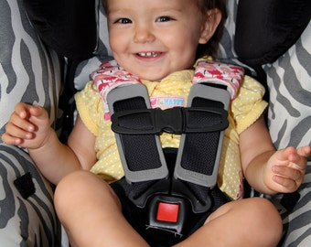 Reversible Organic Car Seat Strap Covers, Choose Your Fabric - Made to Order