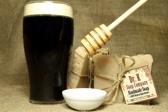 Irish Beer Soap - Gifts for Men - With Irish Stout and Honey