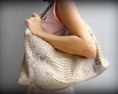 Leather Purse Snakeskin - Leather Hobo Bag - Natural Brown Shoulder Leather Bag