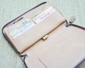 Leather Zippy Wallet - Snakeskin Wallet Women - Pick Your Color