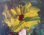 "First Bloom Oil Painting on 4""x6"" canvas panel"