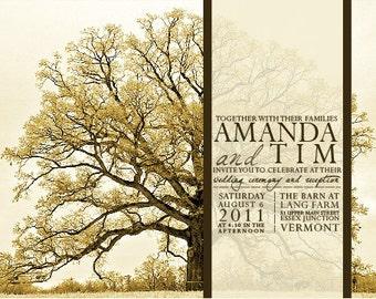 Vintage Tree Wedding Invitations : InkOVERpaper Invitations