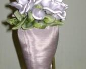 Sterling Silver Roses Nosegay Decorator 'Tassel' Sachet - FREE SHIPPING
