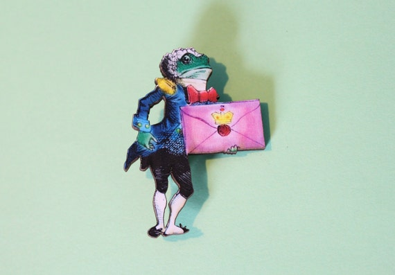 Frog Footman Brooch