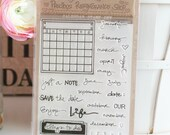 "Photopolymer Clear Stamps - Calendar Stamp Set - 4""x6"" Sheet - High Quality - 34 Stamps - Clear Stamps"