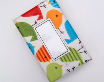 Little Bird Light Switch Plate Cover / Single Rocker Decora / Nursery Decor / Kids Boys Room / Slightly Smitten Kitten Designs