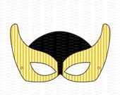 16 Superhero Super Hero Birthday Party Printable Masks - Favor Tags - Party Decor