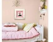 Flower Art / Botanical Print / Pink Decor / Decoupage Plate Wall Hanging / Pink Flower Wall Art / old flower print