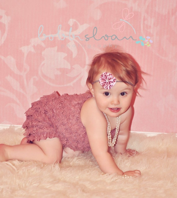 CLEARANCE Petti romper - Dark DUSTY ROSE - Photography Prop - With or Without Straps