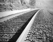 Train tracks at Del Mar, 8 x 12 Photograph