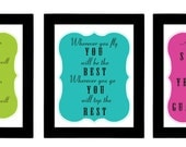 Dr.Suess Seuss Quote Poster Set Perfect for Classroom - (3) 8x10 Prints - Typography - Back to School