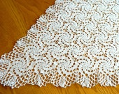 Ocean Waves crochet table runner