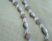 Irredescent and Lavender Beaded Necklace
