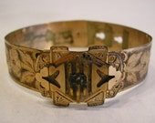 Antique Victorian Brass or Copper Bracelet