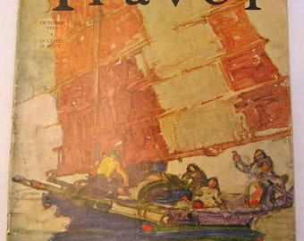 October 1935 Travel Magazine, Assisi, Palace of Minos, Lost Islands of the Caribbean, more