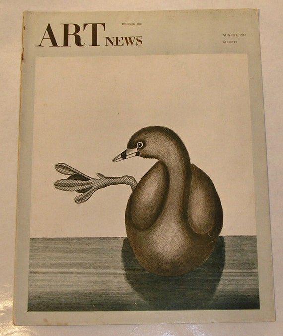 August 1947 ART NEWS Magazine, Washington Allston, Youth Painting, Birds in Art and more