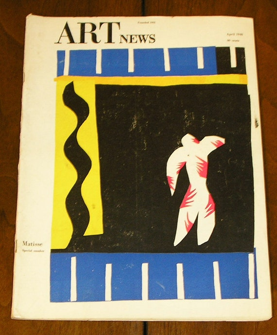 April 1948 ART NEWS Magazine, A focus on Henri Matisse, The Berlin Pictures, Yasuo Kuniyoshi, Abstract pictures make concrete houses and ...