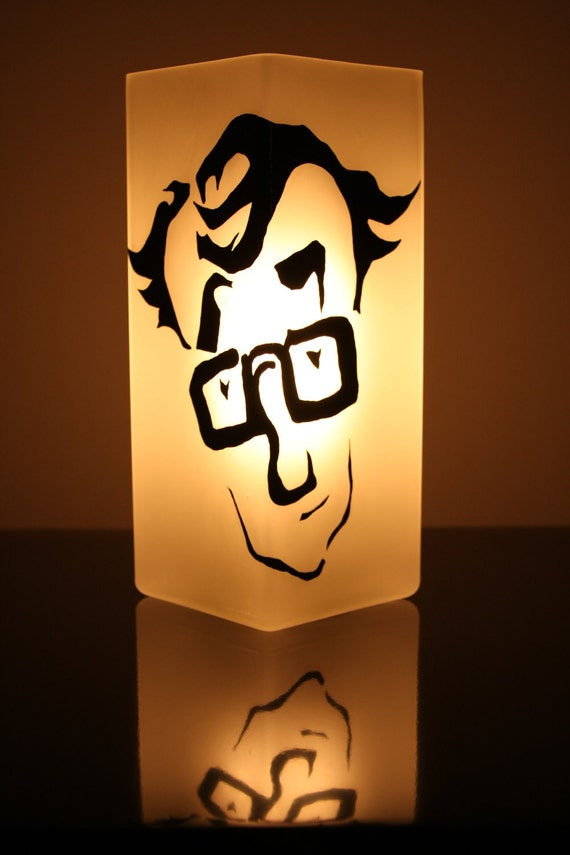 Hand Painted Lamp - Woody Allen Caricature