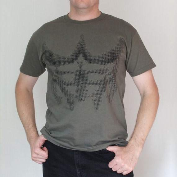 six pack t shirt military green