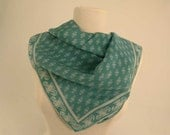 Beautiful hand rolled silk silk  vintage scarf,