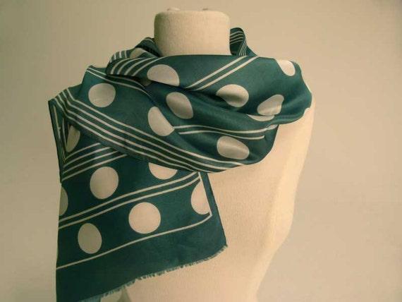 gorgeous green polka dot scarf