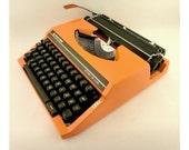 Vintage orange manual  typewriter - SilverReed SR 280 DE LUXE