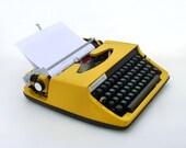 RESERVED FOR JOHN  Vintage yellow manual  typewriter