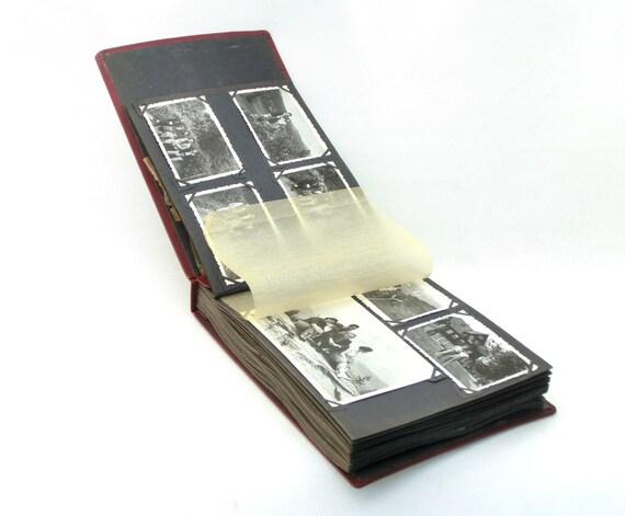 Vintage photo album with photos 50s