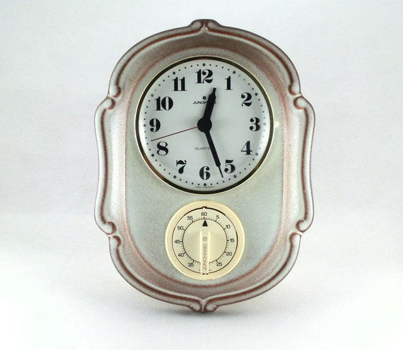 Vintage ceramic wall hanging clock from Germany