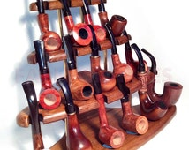 New Wooden Pipes Stand-Showcase Rack Holder for 15 Tobacco Smoking Pipes . Handmade.....LIMITED Edition.....
